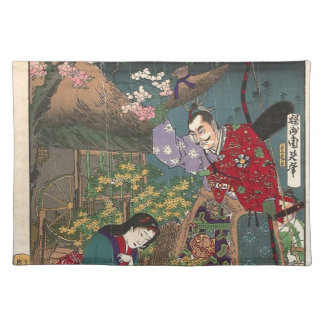 Japanese Beautiful Geisha Samurai Art Placemat