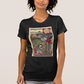 Japanese Beautiful Geisha Samurai Art T-Shirt