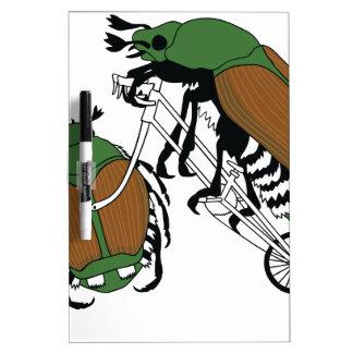 Japanese Beetle Riding Bike/ Japanese Beetle Wheel Dry Erase Board