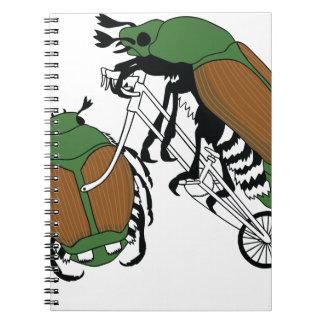 Japanese Beetle Riding Bike/ Japanese Beetle Wheel Notebooks