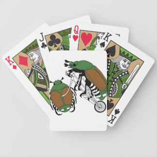 Japanese Beetle Riding Bike/ Japanese Beetle Wheel Poker Deck