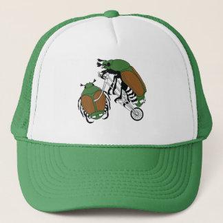 Japanese Beetle Riding Bike/ Japanese Beetle Wheel Trucker Hat