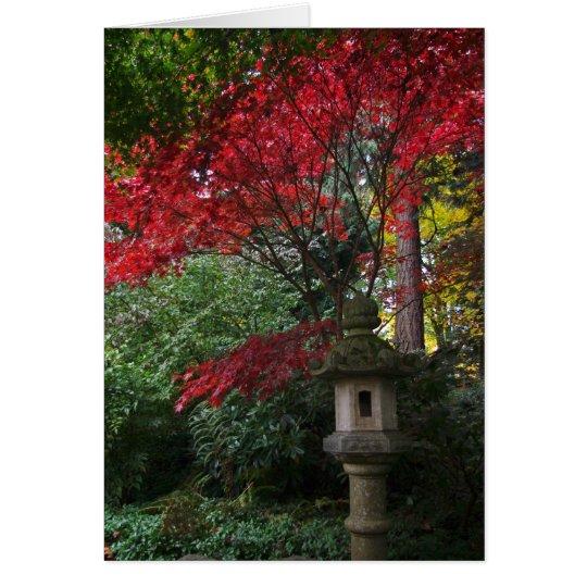 Japanese bird feeder card