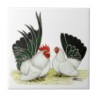 Japanese Blacktail Bantams Tile