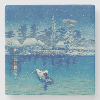 Japanese Boats Stone Coaster