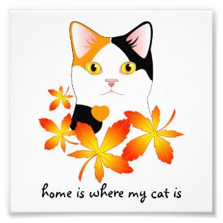Japanese Bobtail Cat Home Heart Sign