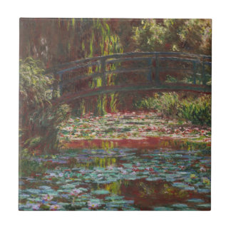 Japanese Bridge and Water Lilies by Claude Monet Tile