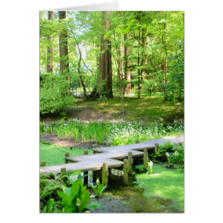 Japanese Bridge in the Nitobe Gardens Card