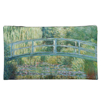 Japanese Bridge Monet Cosmetic bag or travel bag