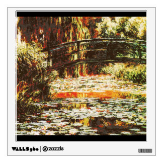 Japanese Bridge over Water Lilies - Claude Monet Wall Sticker