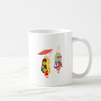 Japanese Bunny Rabbits Coffee Mug
