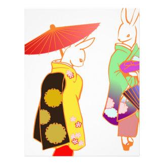 Japanese Bunny Rabbits Letterhead