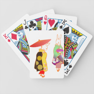 Japanese Bunny Rabbits Poker Deck