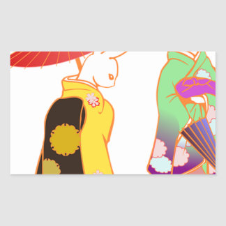 Japanese Bunny Rabbits Sticker
