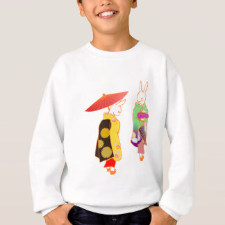 Japanese Bunny Rabbits Sweatshirt