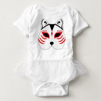 Japanese cat mask baby bodysuit