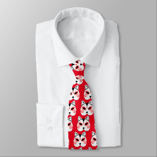 Japanese cat mask tie