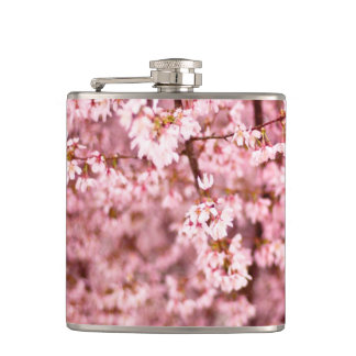 Japanese Cherry Blooms Hip Flask