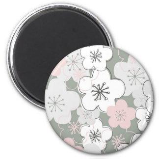 Japanese cherry blossom modern pattern magnet