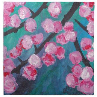 Japanese Cherry Blossom Painting Napkin