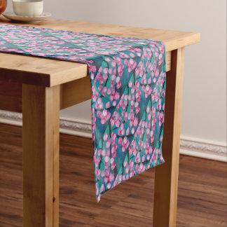 Japanese Cherry Blossom Painting Short Table Runner