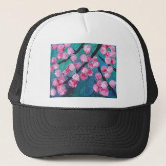 Japanese Cherry Blossom Painting Trucker Hat