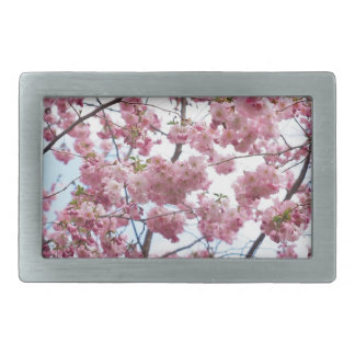 Japanese Cherry Blossom Rectangular Belt Buckle