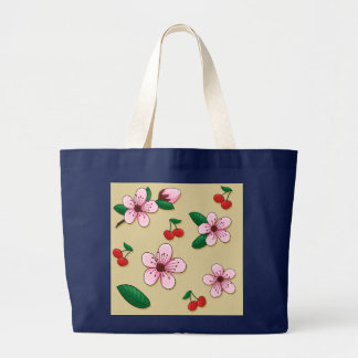 Japanese Cherry Blossom Shopping Tote Bag