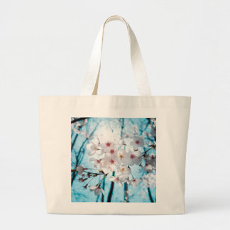 Japanese Cherry Blossom Zen Large Tote Bag