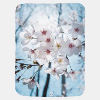 Japanese Cherry Blossom Zen Stroller Blankets