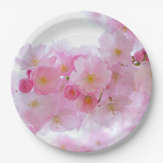 Japanese Cherry Blossoms 9 Inch Paper Plate