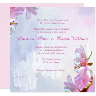 Japanese Cherry Blossoms Custom Wedding Invitation