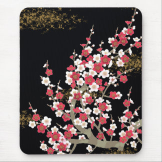 Japanese Cherry Blossoms Floral Fine Art Mouse Pad