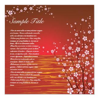 Japanese Cherry Blossoms Invitation 02