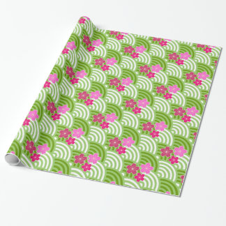 Japanese Cherry Blossoms Wrapping Paper