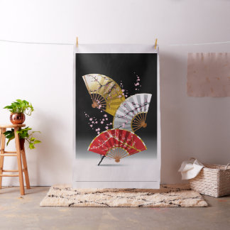 Japanese Cherry Fans Tapestry Fabric