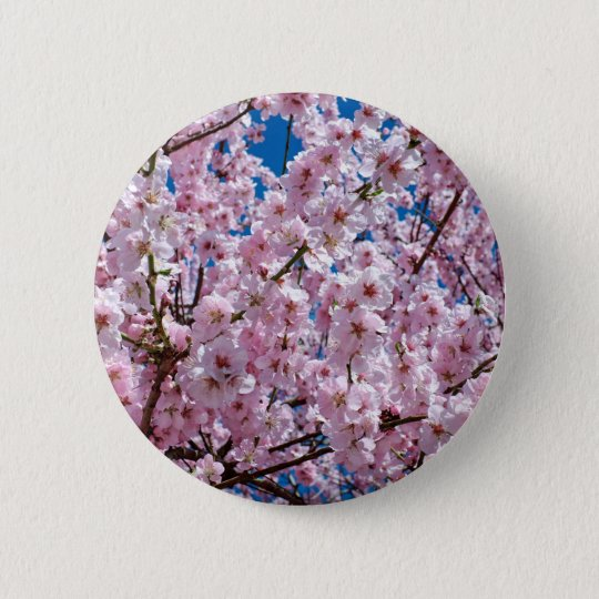 Japanese cherry Flower 2 Inch Round Button
