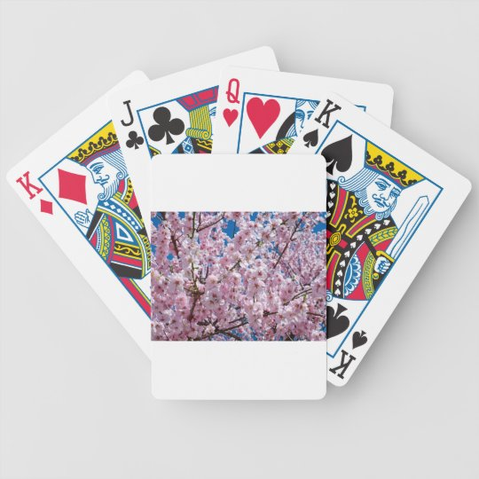 Japanese cherry Flower Bicycle Playing Cards