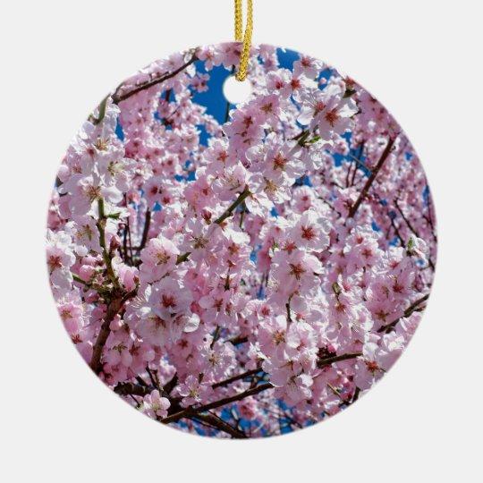 Japanese cherry Flower Ceramic Ornament