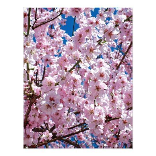 Japanese cherry Flower Letterhead