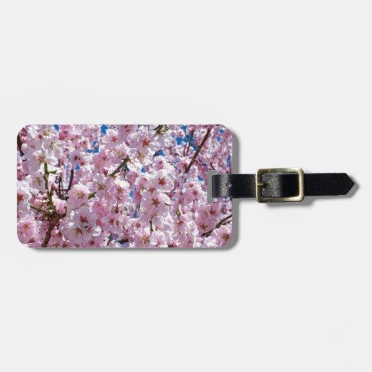 Japanese cherry Flower Luggage Tag