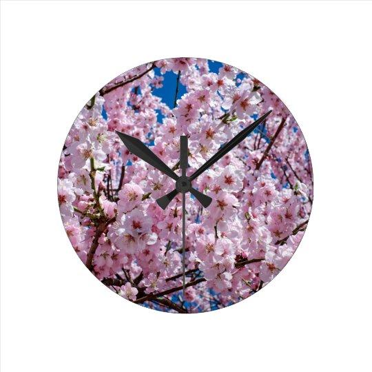 Japanese cherry Flower Round Clock
