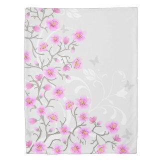 Japanese Cherry Flowers (2 sides) Twin Duvet Cover