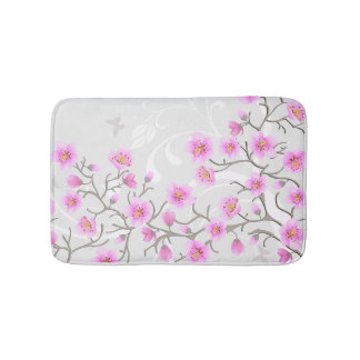 Japanese Cherry Flowers Bath Mats