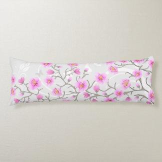 Japanese Cherry Flowers Body Pillow
