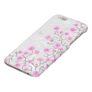 Japanese Cherry Flowers Glossy iPhone 6 Case