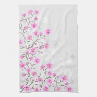 Japanese Cherry Flowers Kitchen Towel
