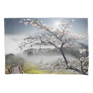 Japanese Cherry Landscape (2 sides) Pillowcase
