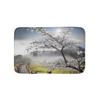 Japanese Cherry Landscape Bath Mats
