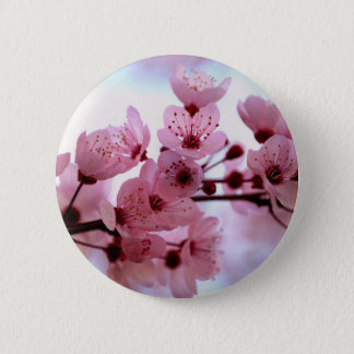 Japanese Cherry Tree Blossoms 2 Inch Round Button
